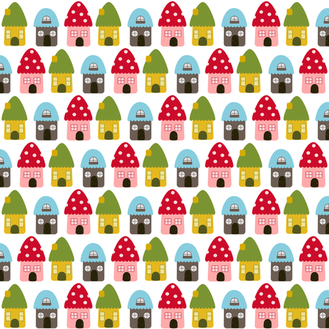 Little Gnome Homes fabric by mayabella on Spoonflower - custom fabric