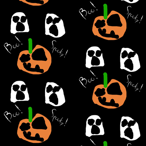 Boo! fabric by dimples_monkey on Spoonflower - custom fabric