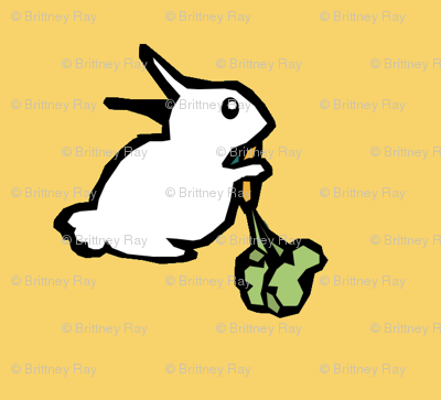 White Rabbits on Gold