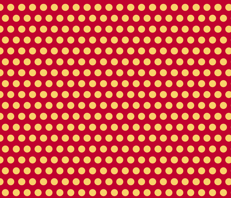 Polka Dot: Red and Gold fabric by pond_ripple on Spoonflower - custom fabric