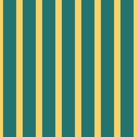 Stripe: Gold and Teal fabric by pond_ripple on Spoonflower - custom fabric