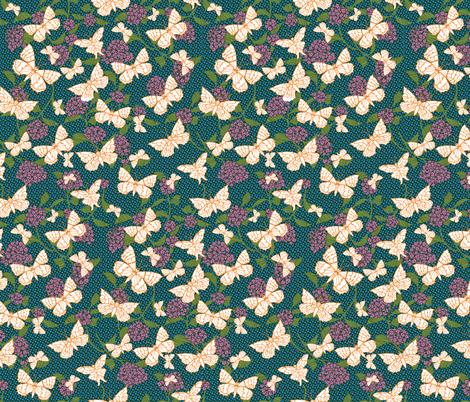 Butterfly Garden fabric by kezia on Spoonflower - custom fabric