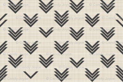 Blurred Chevrons on Linen