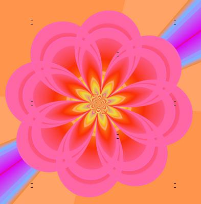 Peachy Pink Flowers Floating