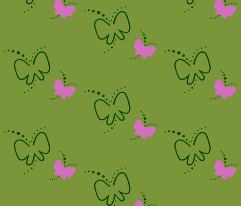 Butterflies by Henny fabric by hennymoeller on Spoonflower - custom fabric