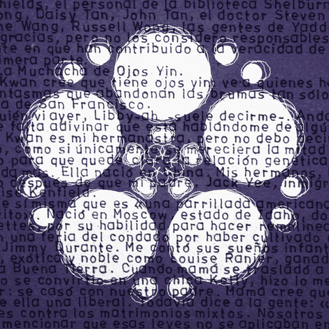 text flower fabric by heikou on Spoonflower - custom fabric