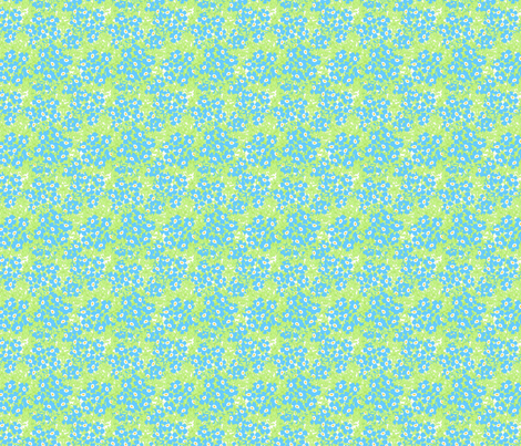 ©2011 forgetmenot fabric by glimmericks on Spoonflower - custom fabric