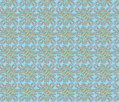 ©2011 squiggle fabric by glimmericks on Spoonflower - custom fabric