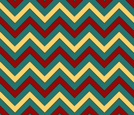 Monster Men Chevron fabric by pond_ripple on Spoonflower - custom fabric
