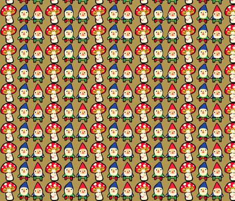 gnome mushroom mash fabric by heidikenney on Spoonflower - custom fabric
