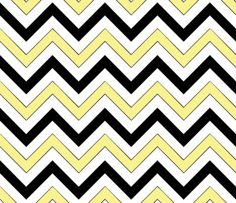 Yellow Chevrons fabric by pond_ripple on Spoonflower - custom fabric