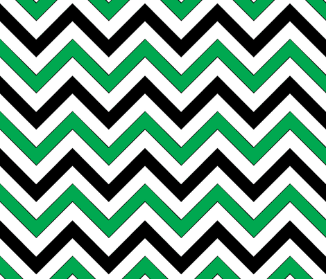 Green Chevrons fabric by pond_ripple on Spoonflower - custom fabric