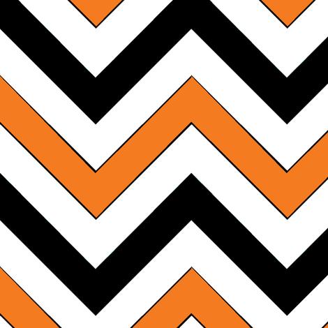 Orange Chevrons fabric by pond_ripple on Spoonflower - custom fabric