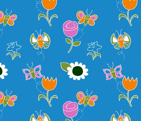 Flutterby Butterflies fabric by yellowkitty on Spoonflower - custom fabric