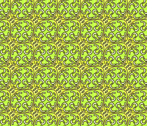 ©2011 squiggle melon fabric by glimmericks on Spoonflower - custom fabric