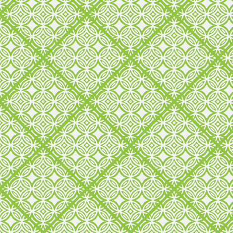 Lattice green and white fabric by joanmclemore on Spoonflower - custom fabric