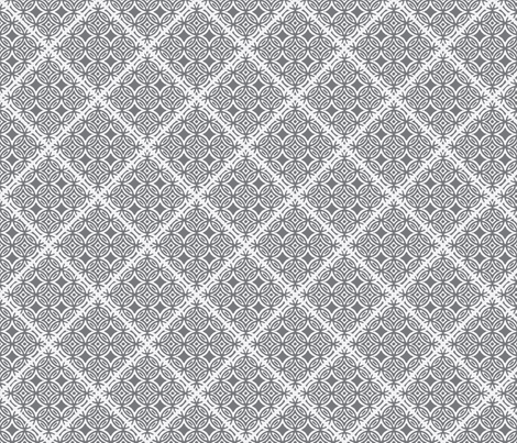 Lattice gray and white fabric by joanmclemore on Spoonflower - custom fabric