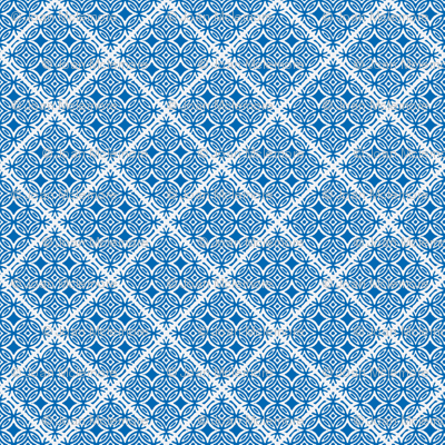 Lattice blue and white