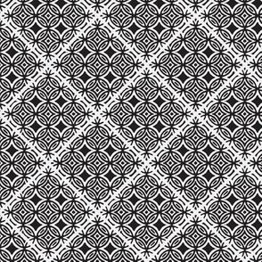 Lattice black and white inverted