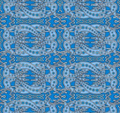 Blue Celtic Knot Greyhounds ©2011 by Jane Walker