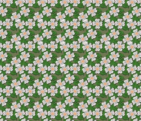 ©2011 dogwood white fabric by glimmericks on Spoonflower - custom fabric
