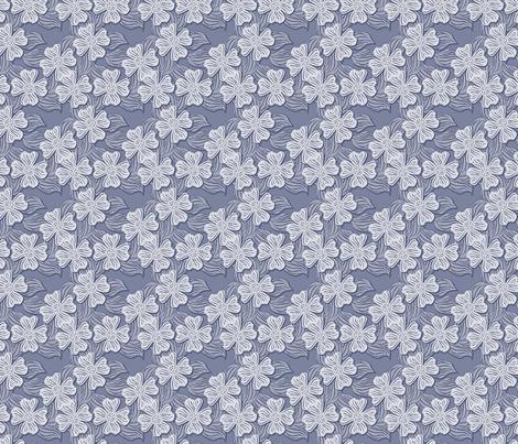 ©2011 dogwood blue fabric by glimmericks on Spoonflower - custom fabric