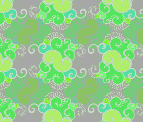 Retro green fabric by joanmclemore on Spoonflower - custom fabric