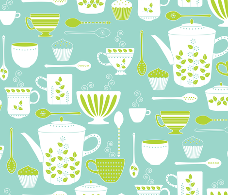 Retro Coffee fabric by kayajoy on Spoonflower - custom fabric