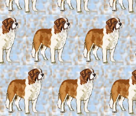 saint_bernard_ fabric by dogdaze_ on Spoonflower - custom fabric