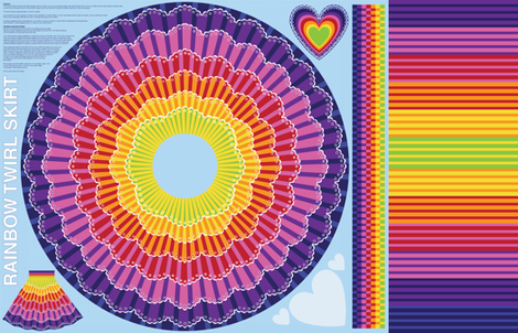 Rainbow Twirl Skirt fabric by sammyk on Spoonflower - custom fabric