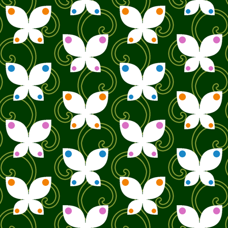 butterfly vine fabric by sef on Spoonflower - custom fabric