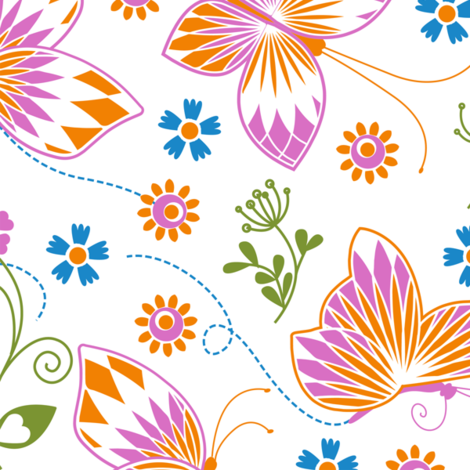 Butterfly garden fabric by cjldesigns on Spoonflower - custom fabric