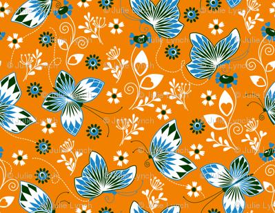 Butterfly garden orange