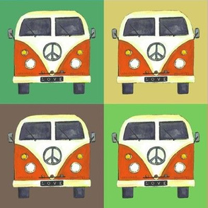 small rainbow peace campers