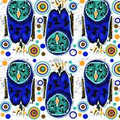 Cobalt Teal Owl