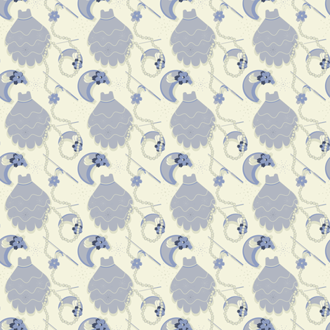 Fantasy In Blue fabric by eppiepeppercorn on Spoonflower - custom fabric