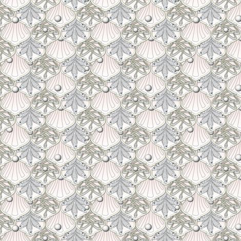 © 2011 Mermaid's Wedding Feast Dainty fabric by glimmericks on Spoonflower - custom fabric