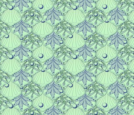 © 2011 Mermaid's Wedding Feast Aqua fabric by glimmericks on Spoonflower - custom fabric