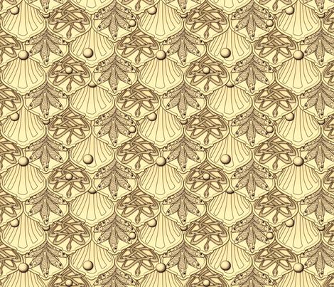 © 2011 Mermaid's Wedding Feast Gold fabric by glimmericks on Spoonflower - custom fabric