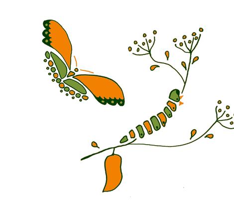 historia de la mariposa fabric by mama-arte-eco on Spoonflower - custom fabric
