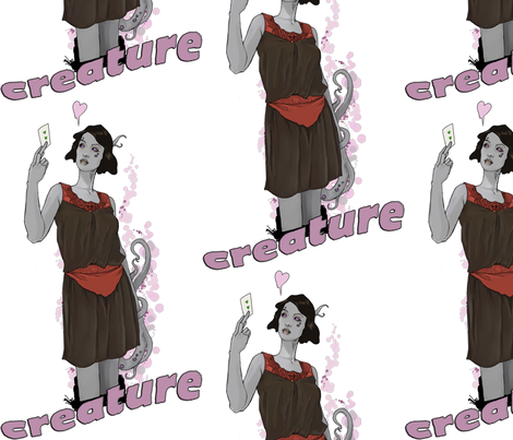 creature-ed fabric by buffy_sunders on Spoonflower - custom fabric