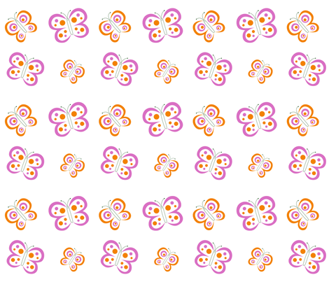 butterflies fabric by karenmayo on Spoonflower - custom fabric