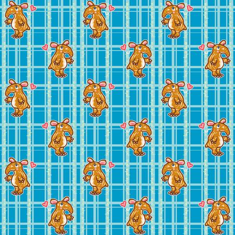 Tapir Love (blue) fabric by mikka on Spoonflower - custom fabric