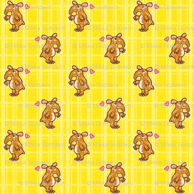 Tapir Love (yellow)
