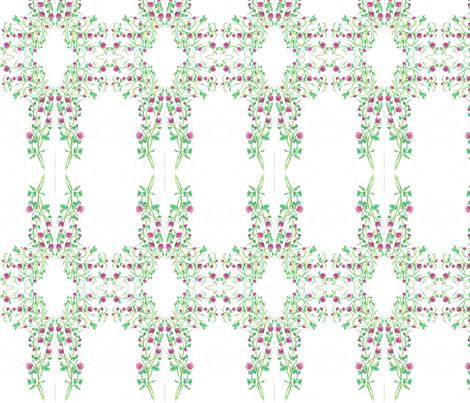 pink_rose_plant_drawing_scan fabric by vinkeli on Spoonflower - custom fabric