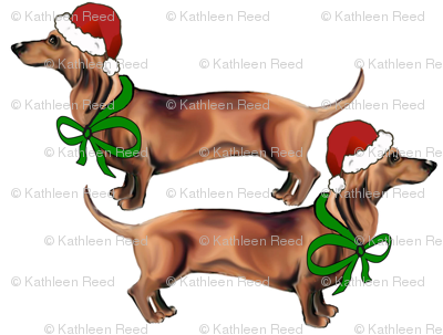 Christmas_Dachshunds
