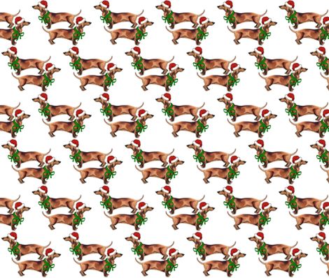 Christmas_Dachshunds fabric by dogdaze_ on Spoonflower - custom fabric