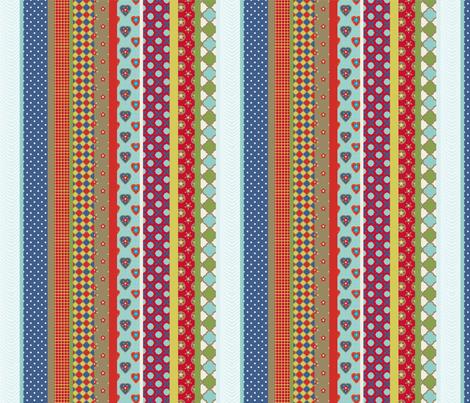 set_rayure_étoilé fabric by nadja_petremand on Spoonflower - custom fabric