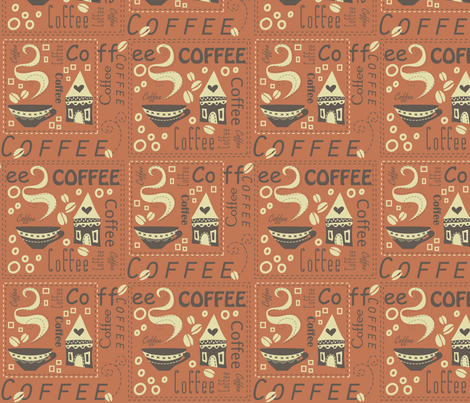 Coffee House (Only 3 colours) fabric by catru on Spoonflower - custom fabric