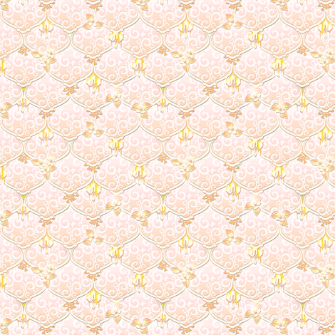 ©2011 dainty woodnymphweddingfeast shell fabric by glimmericks on Spoonflower - custom fabric